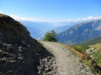 Panorama sulla valle del Rodano (Sierre, Sion, Crans Montana)