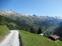 Salita da Ferden in direzione della Faldumalp - Panorama sulla Lötschental