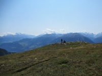 Lungo il fantastico trail che collega Oberi Meiggen con Stafel - Panorama sui 4.000 vallesani