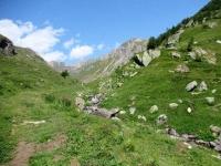 Il sentiero ciclabile che sale a Bachalp