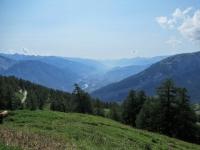 Panorama sul Vallese orientale (Sion - Martigny)