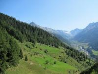 Salita da Ferden in direzione di Faldumalp - Panorama sulla Lötschental