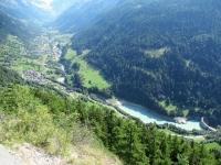 In direzione della Faldumalp - Panoramica su Ferden