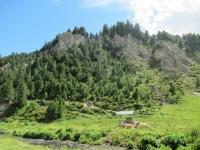 Caratteristiche formazioni rocciose presso l'Alpe Pertusio
