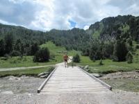 In direzione dell'Alpe Gana