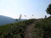 Single-track in direzione dell'Alpe Vicaria