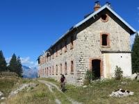 Resti di una caserma militare nei pressi dei baraccamenti de La Seyte