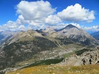 Monginevro e il monte Chaberton visti dallo Janus