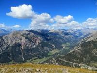La valle della Clarée con gli abitati di Val des Pres e Plampinet visti dallo Janus