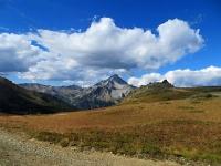 Lo Chaberton visto scendendo in Val Gimont