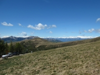 Panorama OVEST dalla Capanna Monte Bar - La catena alpina dei 4.000 vallesani