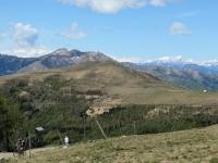 Panorama OVEST dalla Capanna Monte Bar - Al centro il Monte Tamaro, sullo sfondo la catena alpina dei 4.000 vallesani