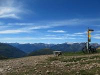 Panorama sull'arco alpino da Motto della Croce