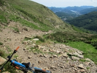 Inizio del sentiero finale che dall'Alpe Davrosio riporta a Tesserete
