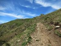 Lungo il sentiero finale che dall'Alpe Davrosio riporta a Tesserete
