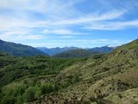 Panorama lungo il sentiero finale che dall'Alpe Davrosio riporta a Tesserete