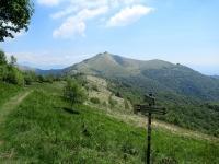 Lungo la strada delle Colme - vista sul Monte Bolettone