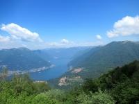 Panorama sull'alto Lario dalla Bocchetta di Molina