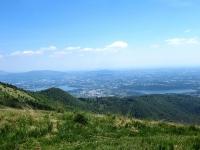 Il lago di Pusiano (sx) ed il lago di Alserio (dx)