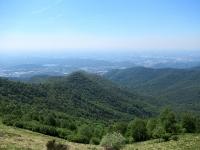 Panorama sulla pianura lombarda dal Monte Boletto