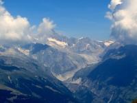 Il Fieschergletscher visto dal Colle del Breithorn
