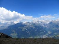 Panoramica sull'altopiano dell'Aletsch, sullo sfondo i 4.000 delle Alpi Bernesi
