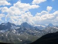 Punta del Rebbio, Punta d'Aurona ed il ghiacciaio del Monte Leone (Alpe Veglia)
