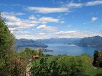 Panorama sull' Alto Lago Maggiore da Alpino