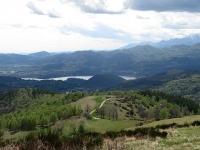 Panorama sul Lago d'Orta dalla sommità del Monte del Falò