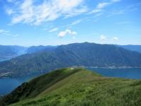 Panorama sul triangolo lariano dall'Alpe di Mezzegra