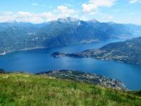 Panorama sulla Punta di Bellagio dall'Alpe di Mezzegra