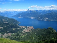 La parte settentrionale del lago di Como vista dalla sommità del Monte Crocione