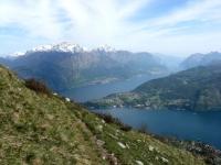Discesa verso Tremezzo, Grigna e Bellagio sullo sfondo