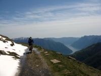 In direzione del Monte di Tremezzo -Lago di Como  sullo sfondo