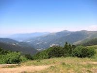 Panorama sulla Val Colla dal Passo di San Lucio