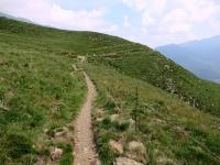 Il sentiero della Val Colla proveniente dalla Capanna Bar in direzione di San Lucio