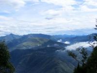 Il Monte Bar ed il Monte Gazzirola visti dal sentiero in direzione dell'Alpe Canigiolo