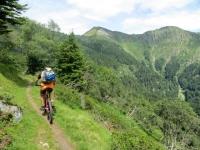 Poco prima dell'Alpe Canigiolo, sullo sfondo il Monte Tamaro ed il Motto Rotondo