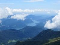 Lago di Lugano ed alta pianura padana dalla vetta del Gradiccioli