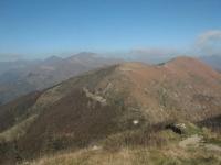 Vetta del Monte Lema - panorama su Poncione di Breno, Monte Gradiccioli e Monte Tamaro