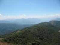 Panorama su Luino e Lago Maggiore al termine del tratto a spinta