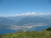 Ascona, Locarno, Val Maggia e Monte Cimetta dalla vetta del Paglione