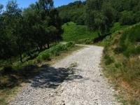 Strada sterrata che congiunge La Forcora con Monterecchio