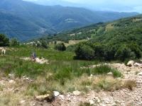 Tratto di salita non ciclabile al Monte Corbaro