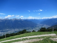 Panorama dall'Alpe Foppa sulla piana di Bellinzona