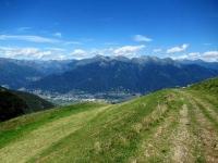 Tratto iniziale di salita al Tamaro lasciata l'Alpe Foppa - Panorama