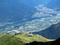 Panorama dalla Manera sull'Alpe Foppa e sull'area turistica di Corte di Sopra