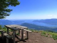 Magnifico panorama sul Lago Maggiore dalla vetta del Monte Todun
