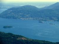 Le isole Borromeo dalla vetta del Todun