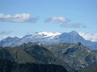 Panorama dallo Zeda - Il ghiacciaio del Monte Breithorn ed il Monte Leone